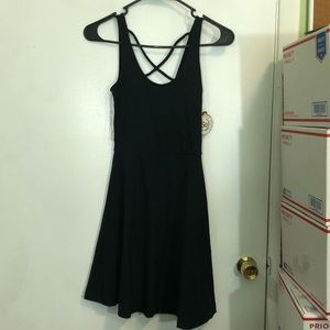 So Cross Back Knit Skater Dress